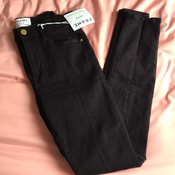 Frame Denim Denim - FRAME Denim Le High Skinny Black Jean 27